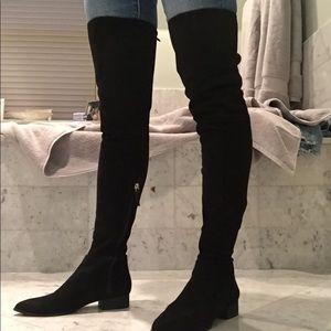 433b7d7db6b Size 6 DKNY Black micro suede thigh-high boots